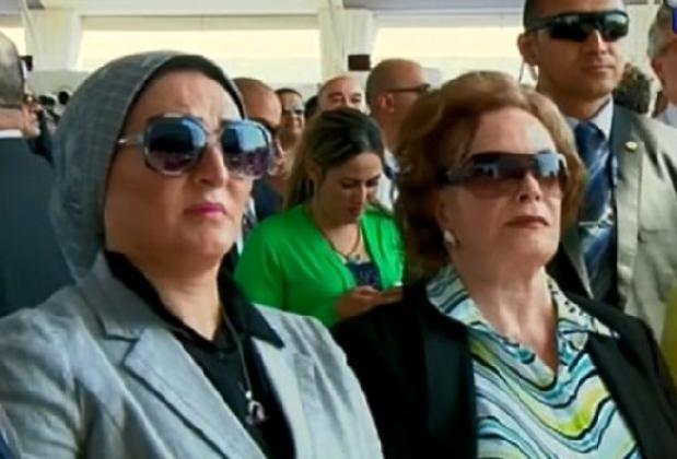 Первая леди Египта —  Абдель Фаттаха ас-Сиси.