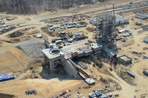Строительство космодрома «Восточный».