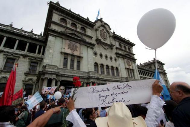 Акция протеста в Гватемале.