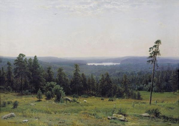 Иван Шишкин. Лесные дали. 1884 год