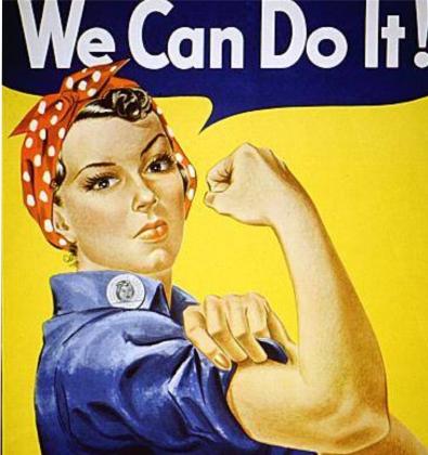 Дж. Говард Миллер. We can do it! Фрагмент плаката. 1943 год