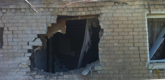 Артобстрел в Донецке.