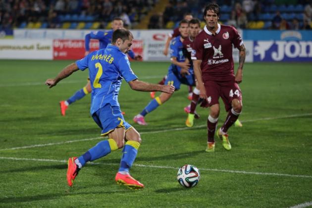 Матч «Ростова» с «Рубином» в сезоне 2014/2015.