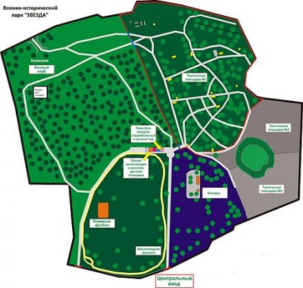 Схема военно-патриотического парка «Звезда». Иллюстрация аdmkrsk.ru