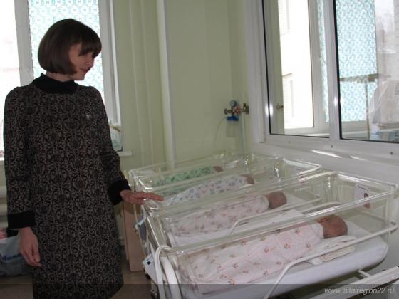 Рождаемость в Алтайском крае, фото официальный сайт региона
