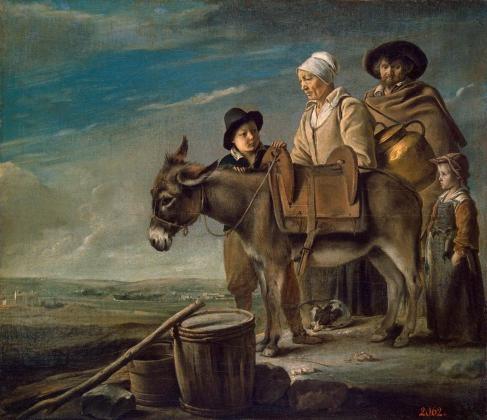 Луи Ленен. «Семейство молочницы», 1640-1645