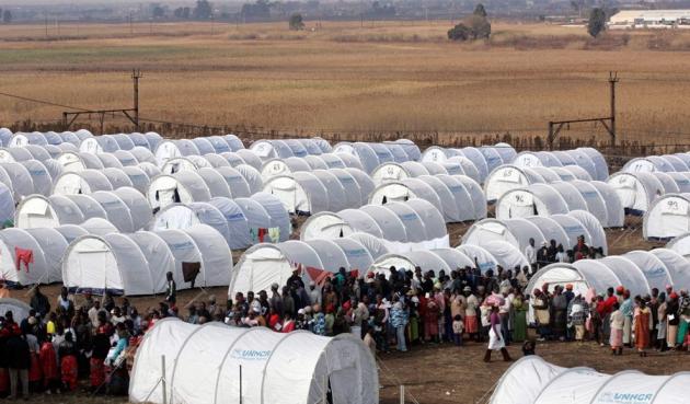 Лагерь для беженцев.