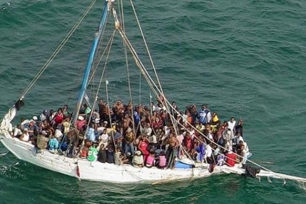 Беженцы из северной Африки.