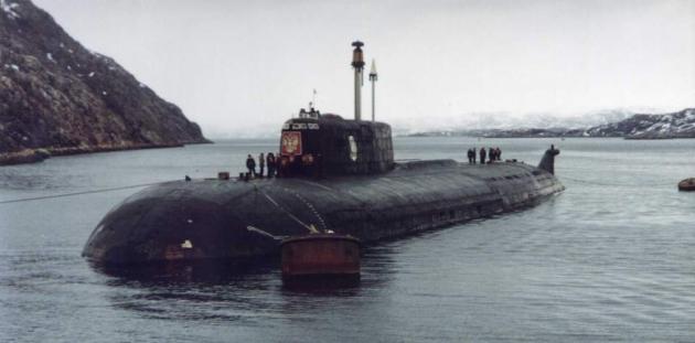 Атомная подводная лодка «Курск».
