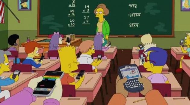 Киноцитата из м/ф «Симпсоны». Автор Мэтт Грейнинг. США