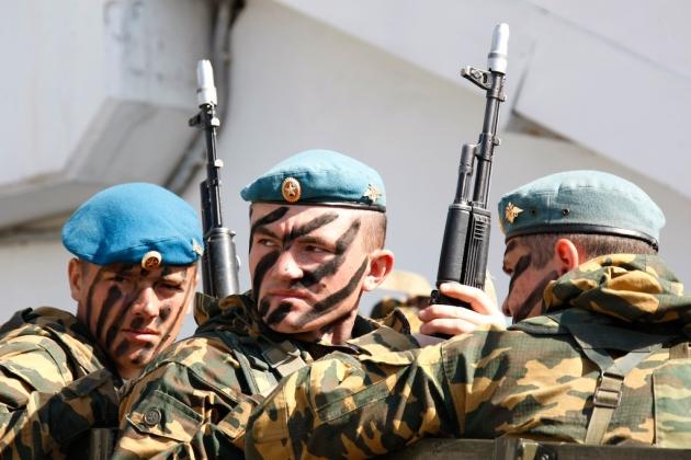 Российские десантники.