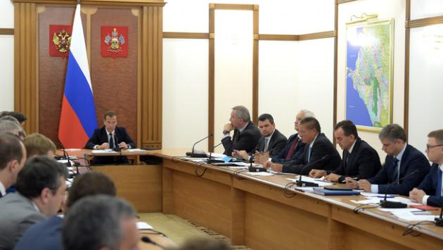 Дмитрий Медведев на первом заседании  Правительственной комиссии по импортозамещению.