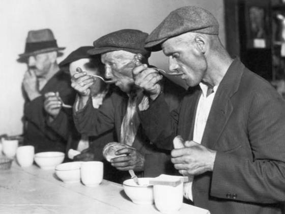 фотография времён Великой депрессии (newsjunkiepost.com)