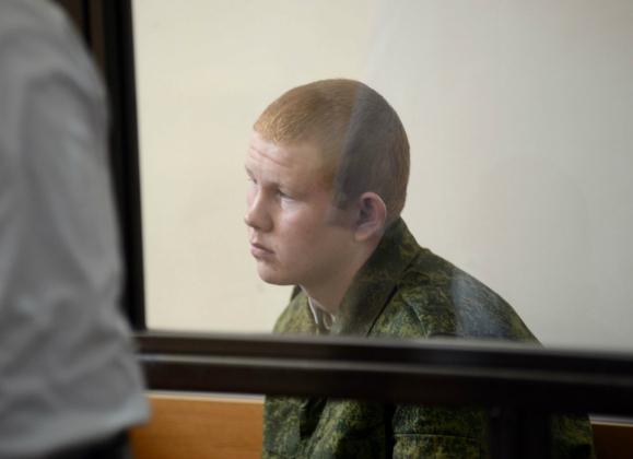 Валерий Пермяков на заседании Российского гарнизонного военного суда в Гюмри. Фото: Photolure