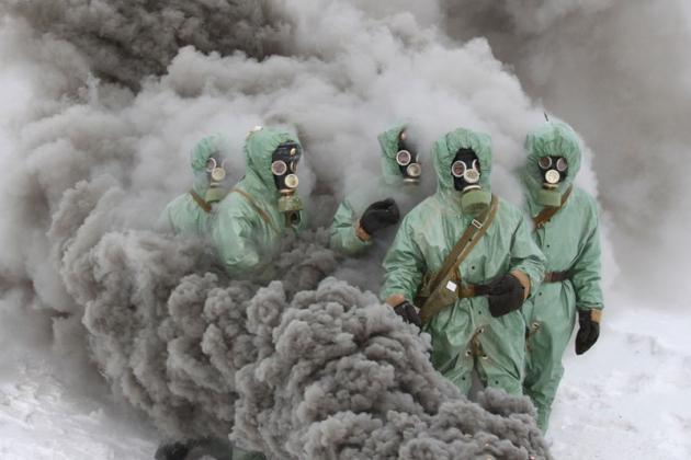 Учения химических войск.