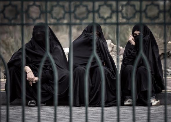 Мусульманки в парандже.