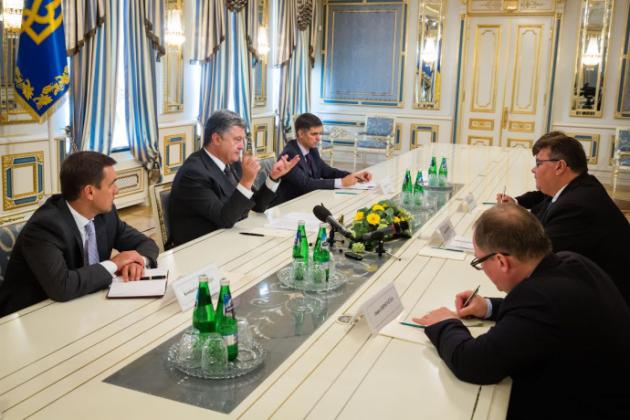 Встреча Петра Порошенко с Линасом Линкявичюсом.