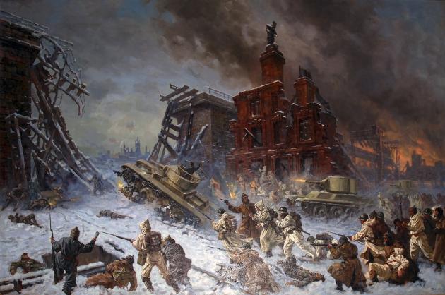 П. Соколов-Скаля. Штурм Выборга. 1940 год