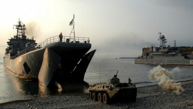 Учения на побережье Балтики.