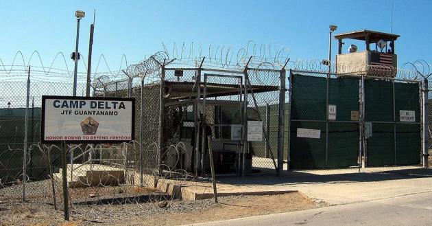 Тюрьма на базе Гуантанамо (Куба).