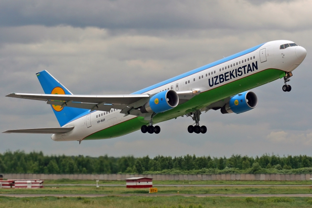 Boeing 767 авиакомпании «Узбекистон хаво йуллари».