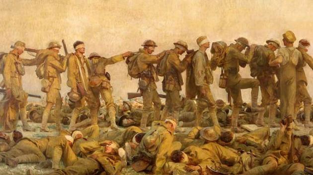 Джон Сингер Сарджент. Поражённые в ходе газовой атаки, 1919.