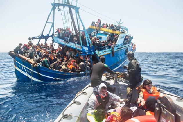 В Средиземном море погибло 40 мигрантов