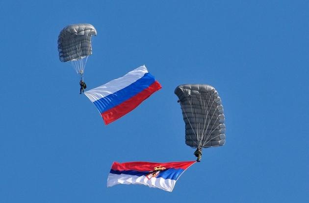 Совместные учения России и Сербии.