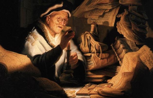 Рембрандт. Притча о богаче. 1627 год. Фрагмент