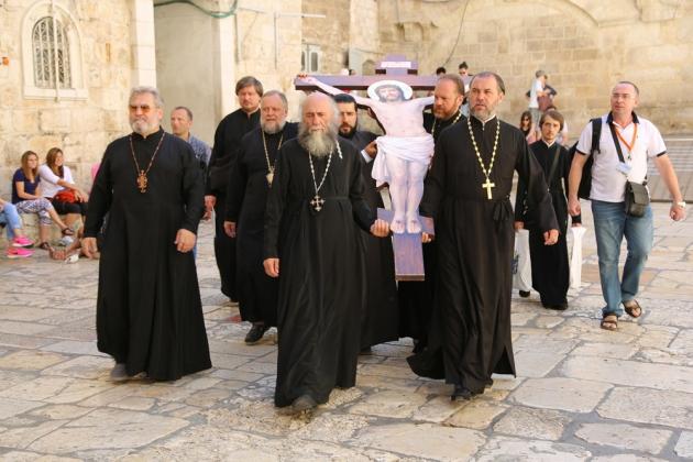 Крест освященный в Иерусалиме.