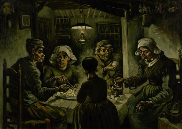 Винсент Ван Гог Едоки картофеля. 1885 De Aardappeleters Холст, масло. 82 × 114 см Музей Винсента ван Гога, Амстердам