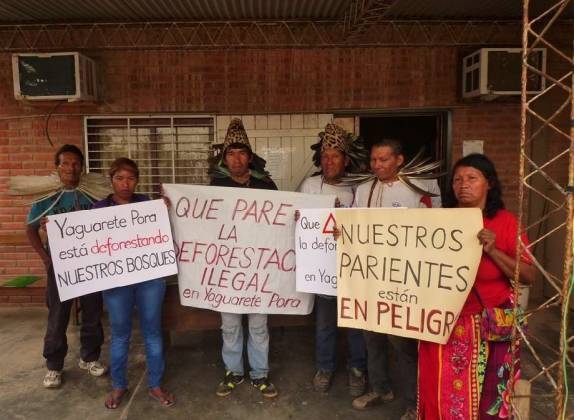 Протест индейцев Парагвая.