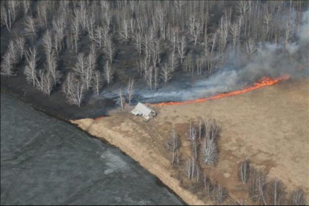 Лесные пожары в Сибири.