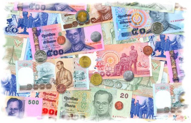 Деньги Тайланда. Илюстрация