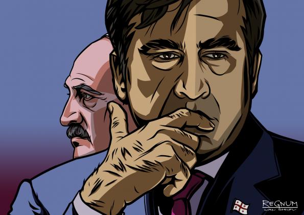 Михаил Саакашвили и Александр Лукашенко. Коллаж ИА REGNUM