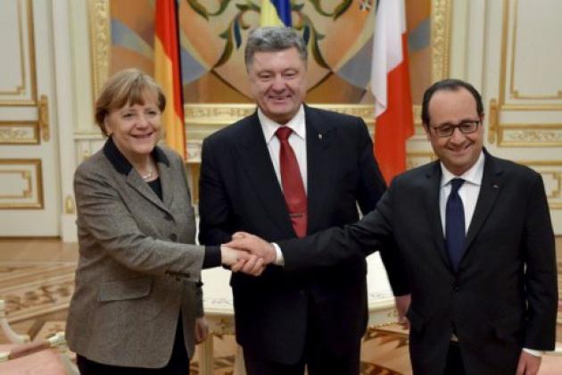 Меркель, Олланд и Порошенко обсудят ситуацию в Донбассе 24 августа