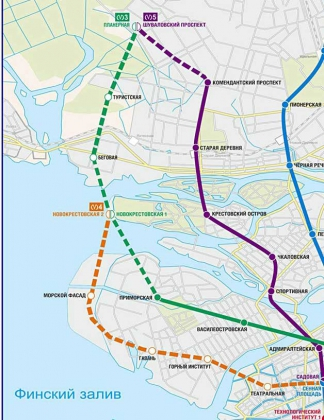 Схема станций метро Санкт