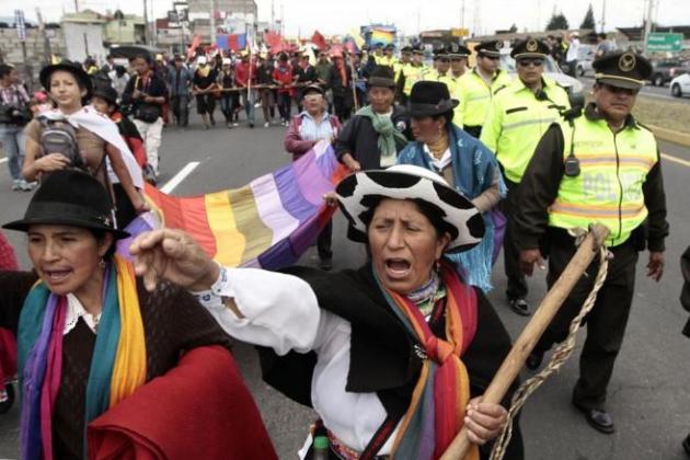 Общенациональная забастовка в Эквадоре