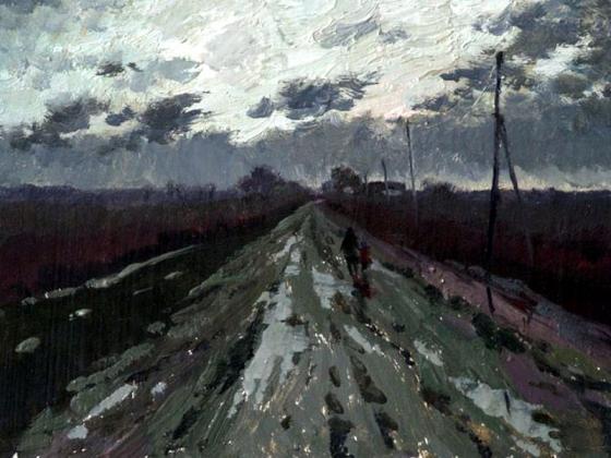 Размытая дорога. Фрагмент. Автор Прокопенко  В.Ф.