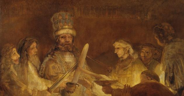 Рембрандт. Заговор Юлия Цивилиса. 1661 год