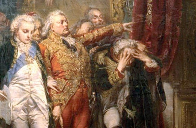 Ян Матейко. Рейтан— упадок Польши. 1866 год. Фрагмент