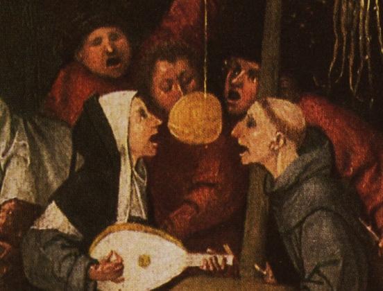 Иероним Босх. Корабль дураков. 1490-1500 гг. Фрагмент