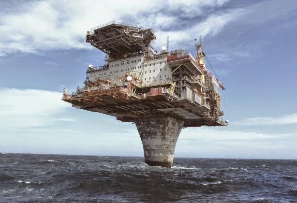 Нефтяная платформа Draugen.