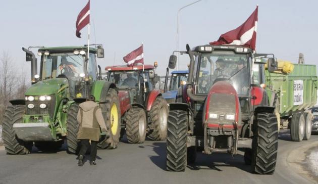 Латвийские крестьяне готовы к протесту.