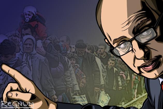 Яценюк поручил пересчитать переселенцев с Донбасса, которых «слишком много»