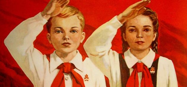 А. Кокорекин. К борьбе за дело Ленина-Сталина будь готов! Плакат. 1951 год