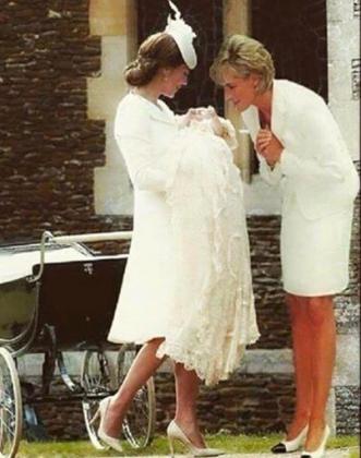 Фото принцессы Дианы с внучкой Шарлоттой вызвало бурю в соцсетях