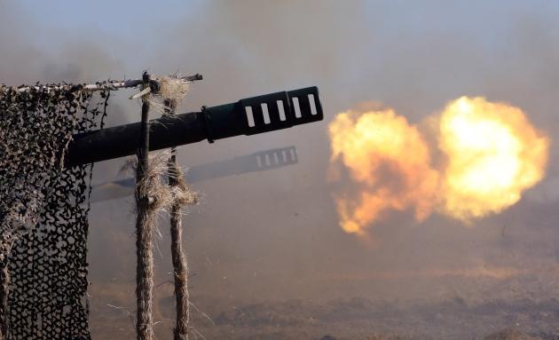 Артиллерийские манёвры в Калининградской области.