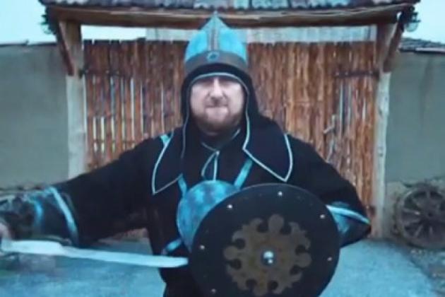 Рамзан Кадыров в роли богатыря из народного эпоса.