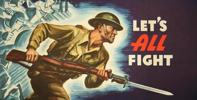 Let's All Fight. Плакат. 1942 год. США